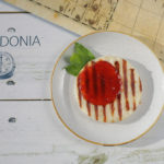 "Pylos Poseidonia restaurant menu - Grilled local cheese ""Mastelo"""